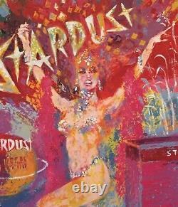 STARDUST REFLECTIONS Framed LeRoy Neiman Poster Las Vegas