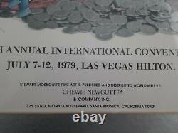 STEWART MOSKOWITZ LAS VEGAS 1979 EXPO Signed 26Hx20W