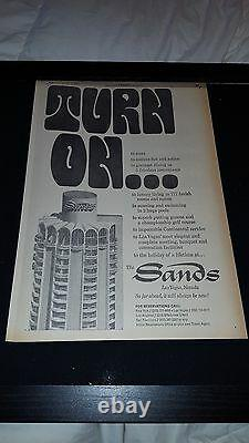 Sands Hotel Las Vegas Rare Original 1967 Promo Poster Ad Framed