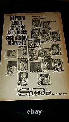 Sands Hotel Las Vegas Rare Original 1969 Promo Poster Ad Framed