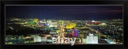 Skyline Las Vegas NV Black Framed Wall Art Print, Las Vegas Home Decor