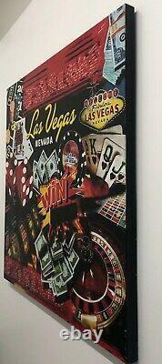 Steve Kaufman Lucky Las Vegas Pop Art Silkscreen Oil 2001-2007 $20K Apr Value