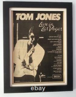 TOM JONESLive In Las Vegas1969ORIGINALPOSTERADFRAMEDFAST WORLD SHIP