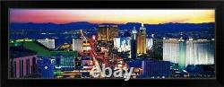 The Strip Las Vegas NV Black Framed Wall Art Print, Las Vegas Home Decor