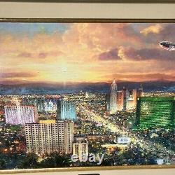 Thomas Kinkade Original Signed Limited Edition Canvas Viva Las Vegas AP 2/200