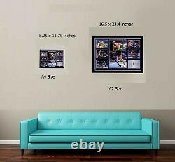 Tyson Fury v Wilder 2 Las Vegas A2 Framed Quality Print Signed Great Gift COA
