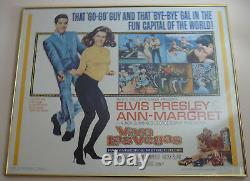 VIVA LAS VEGAS Elvis Presley numbered 64/99 framed movie poster 27 X 34