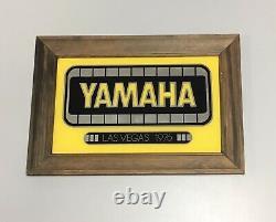 Vintage Yamaha 1976 Las Vegas Framed Mirror Sign