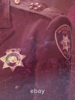 Vtg 70s Portrait Framed Las Vegas Metro Police Sheriff John Mccarthy Mob 16x20