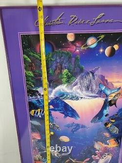 Vtg CHRISTIAN RIESE LASSEN huge poster 22.5''by 30''Lassen galery Las Vegas