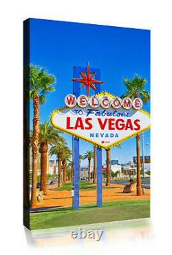 Welcome to Las Vegas Sign Canvas Wall Art Picture Print- ALL SIZES