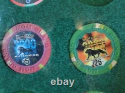 Windsor Casino Grand Opening, Las Vegas & other 52 chips Framed $. 25 to $5,000